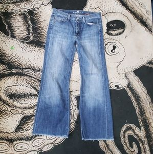 7 for all mankind ginger bootcut jeans 27